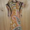 Sim7959.3 Gold Ethnic Dress