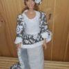 Sim7959.1 – White Ethnic Dress