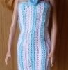 BBC015 – Striped Pink White and Blue Halter Dress