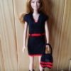 S891 -Black and Red Dress