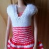 S1091 – Red and White Stripe Dress