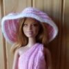 A103 – Pink and White Striped Hat