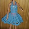 C03 – Blue Crochet Flared Dress