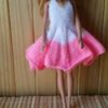 S209 – Pink & White Flared dress