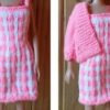 S583 – Pink and White Dress with Jacket